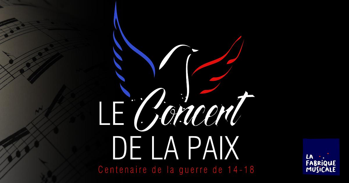 Affiche du concert de la paix du 10 novembre 2018